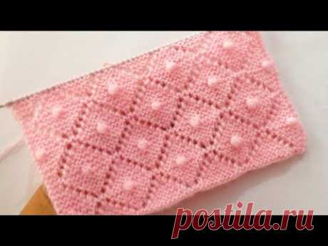 Very Beautiful Knitting Stitch Pattern For Babies Blankets/Sweater