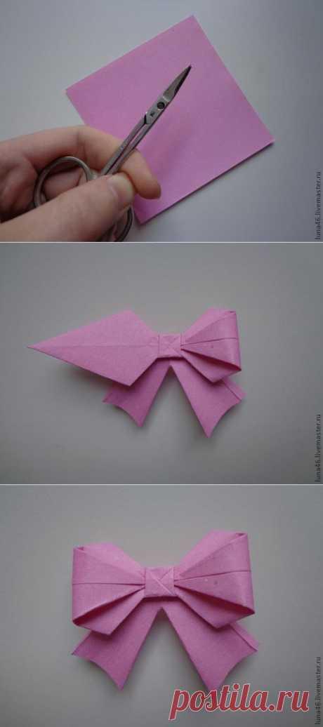 Бантик из бумаги - Ярмарка Мастеров - ручная работа, handmade