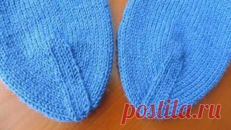 Como tejer mysok del calcetín. Variante 1: De cinta mysok