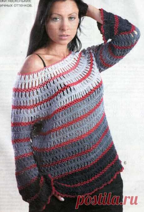 0677 - пуловери, джемпери - В'язання для жінок - Каталог статей - Md.Crochet