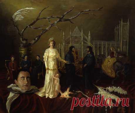 Серия из 7 картин. Принцесса Диана. Две истины. 60х50см. холст,масло
