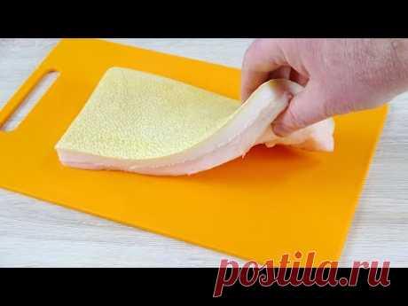 Вот что нужно сделать, чтоб завтра съесть вкусное сало. Рецепт быстрой засолки сала - YouTube Обычно я сало заготавливаю впрок и разными способами. Этот рецепт самой быстрой засолки. При этом вкус сала получается очень ароматным и нежным. А нужно то, всего каки-то 3 минуты и немного выдержки. Обязательно приготовьте. ОЧЕНЬ ВКУСНО!!!  А тут еще один рецепт заготовки сала https://youtu.be/GluzbDlQrnI