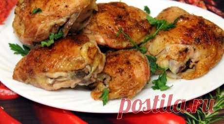 Ароматные запеченные куриные бедрышки — Sloosh – кулинарные рецепты