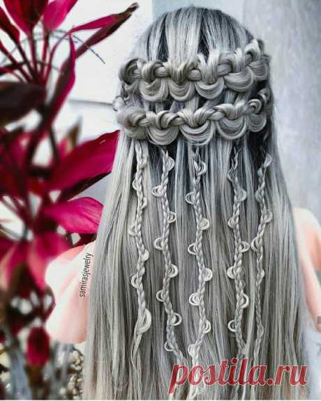 Beautiful hairdresses for long hair