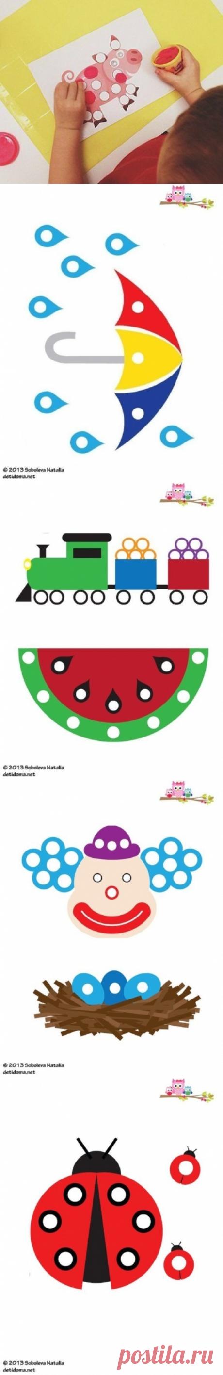 Пластилиновые заплатки - Поделки с детьми
