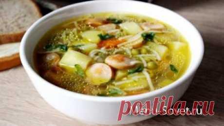 Рецепт приготовления быстрого супа с сосисками