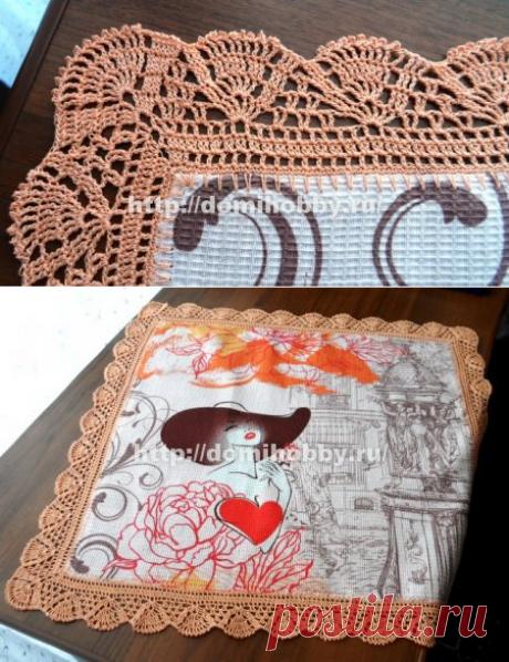 Вязание каймы для полотенец