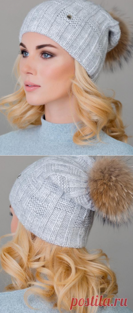 Warm single-layer cap spokes knitted a simple pattern | That on the head?