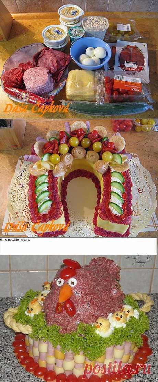 Закусочный торт   ВКУСНО ПОЕДИМ!