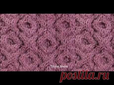 Узор ХОХО. Вязание спицами / Knitting Pattern Aran XO XO