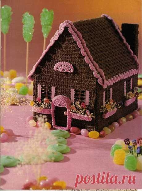 Вязаные пряничные домики