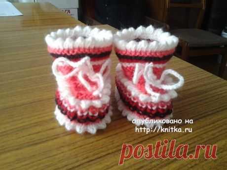 Вязание пинеток спицами. Работы Риммы, Вязание для детей