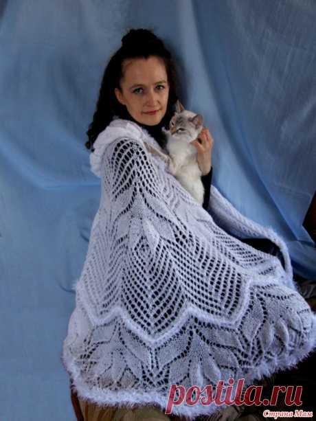 """Шаль """"Снежная королева"""" Девочки, может у кого-то есть схема. Если честно, я знаю где ее можно взять( на сайте дариевна. ру). Но там столько заморочек..."""