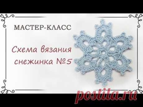 Описание вязания снежинки крючком: схема маленькой снежинки