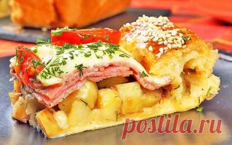 Пирог с картошкой, ветчиной и сыром | Рецепты на SuperKuhen.ru