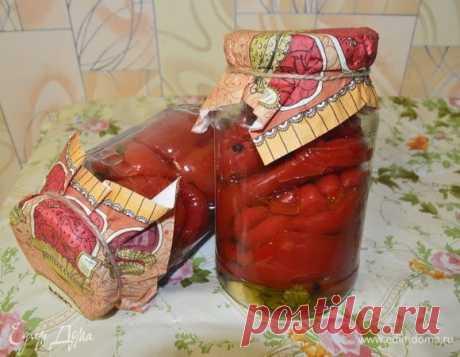Маринованный красный перец . Ингредиенты: перец болгарский красный, чеснок, лавровый лист | Едим Дома кулинарные рецепты от Юлии Высоцкой