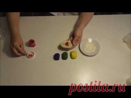 Как покрасить соленое тесто. Соленое тесто для лепки.