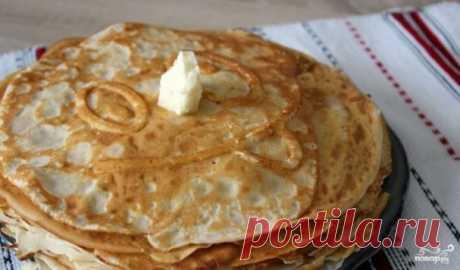 Тонкие блины на кислом молоке - пошаговый рецепт с фото на Повар.ру