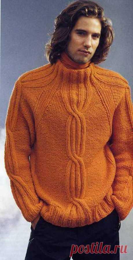 Мужской оранжевый демпер Красавец