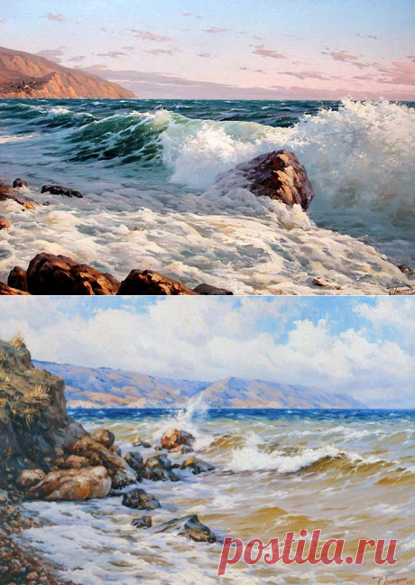 Морские пейзажи Сергея Григораша