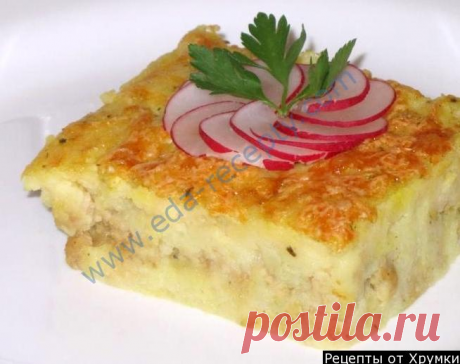 Potato baked pudding