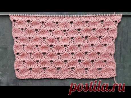 Новый ажурный узор спицами Ягодки / Узор для вязания джемпера, детского пледа,  платья