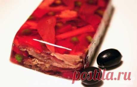 La lengua bajo la jalea - poshagovyy la receta de la foto en Повар.ру