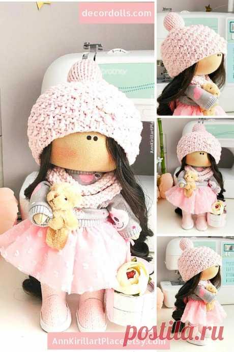 Interior Decoration Doll Nursery Art Cloth Doll Winter Doll | Etsy