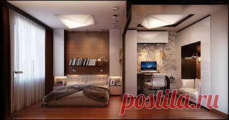 Зонирование комнаты на спальню и рабочую зону. Как зонировать комнату на спальню и гостиную, используя встроенные перегородки. Зонирование кухни и гостиной