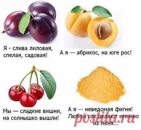 о полезных свойствах некоторых продуктов