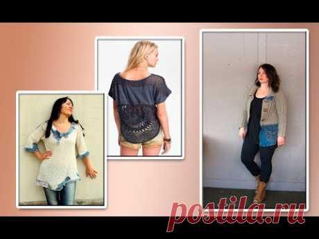 Модели вязания джинсовая ткань+ трикотаж.