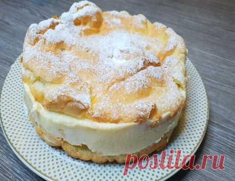 Большой эклер - фантастически вкусный пирог – пошаговый рецепт с фотографиями