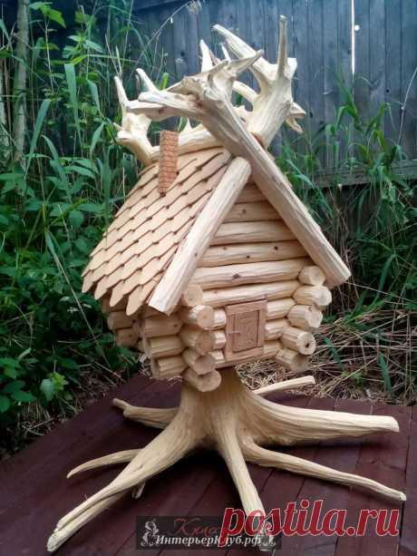 Деревянные избушки как садовый декор и украшение дома, деревянные изделия от Виктора Андрюшина