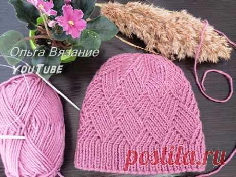 Розовая шапка спицами – 20 моделей вязания со схемами и описанием, видео — Пошивчик одежды