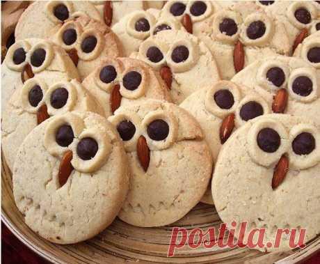 Печенье в виде сов — Поделки с детьми