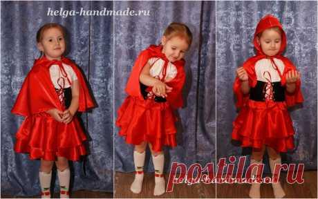 Детский новогодний костюм Красной шапочки своими руками