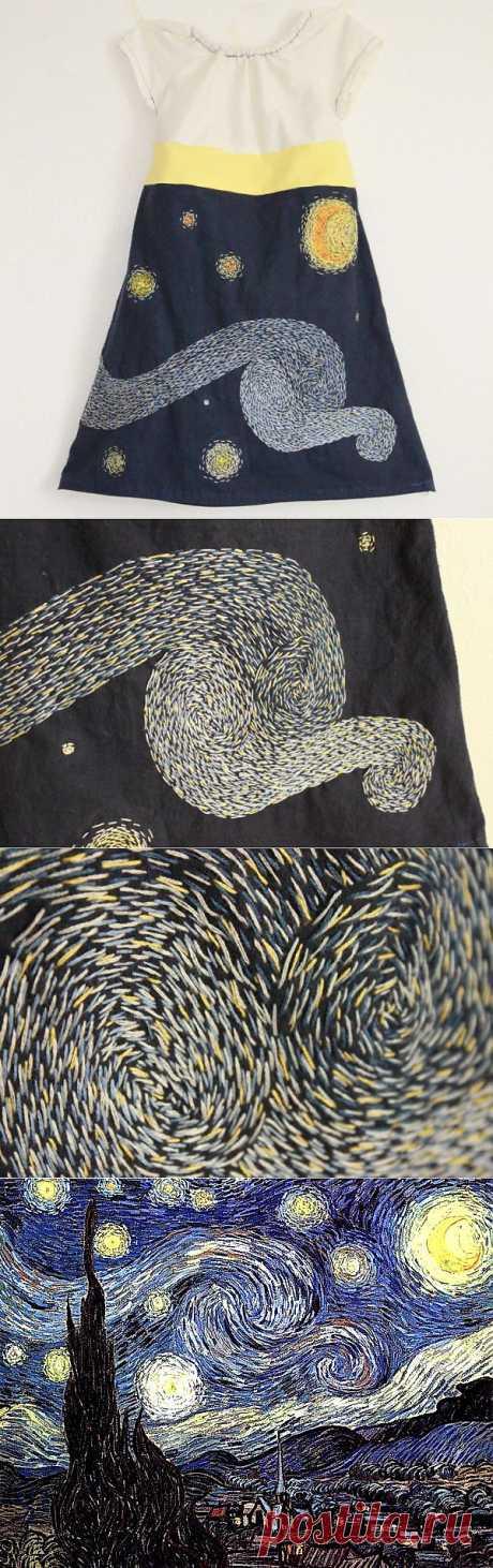 Вышивка в стиле Ван Гога. DIY / Для детей / ВТОРАЯ УЛИЦА