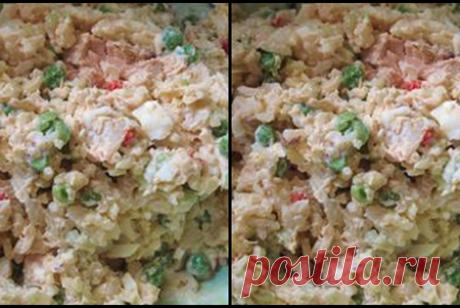 ბრინჯის უგემრიელესი სალათა