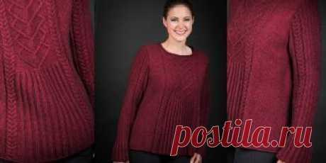 10f67e1f059 Расклешенный пуловер спицами Eres Норвежский дизайнер Кари Хестнес уверена