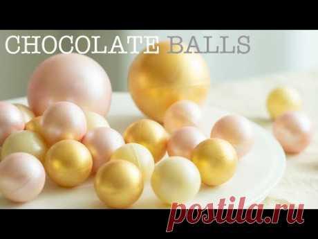 Шоколадные шарики (легкий способ закалки шоколада)/넘나예쁜 초콜릿 볼 2가지 방법 (진짜 쉬운 초콜릿 탬퍼링)