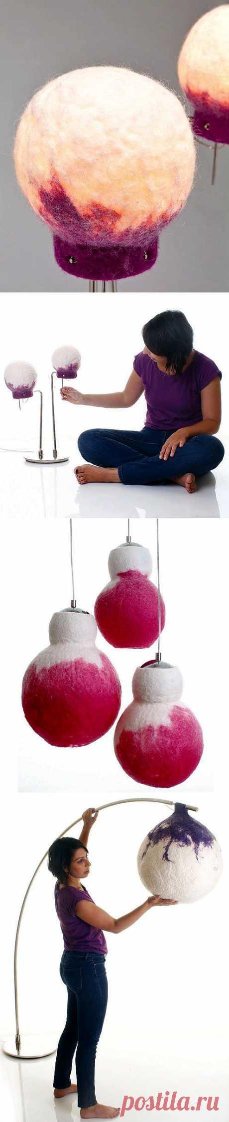 Валяные светильники / Освещение / Модный сайт о стильной переделке одежды и интерьера