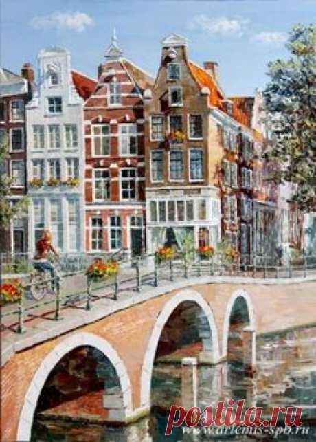 Картины маслом Творческого Объединения Artemis. Городской пейзаж. Европа