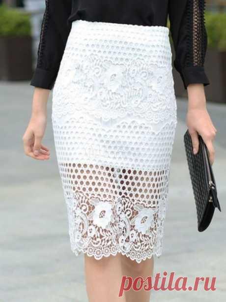 Идея для ажурной юбки
