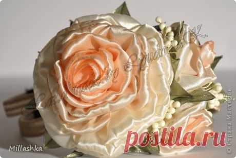 Club Japanese rukodeliya|tensaigakkou.ru \u000a#японский #японское_рукоделие of #хэндмэйд #япония of #japan #мастер_класс of #хобби #канзаши\u000a\u000aKanzasha - the Magnificent rose\u000aAuthor: Millashka