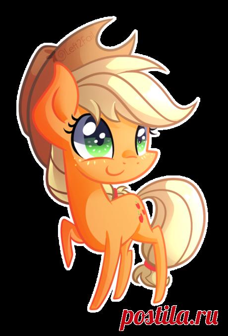 Chibi Applejack by DrawnTilDawn