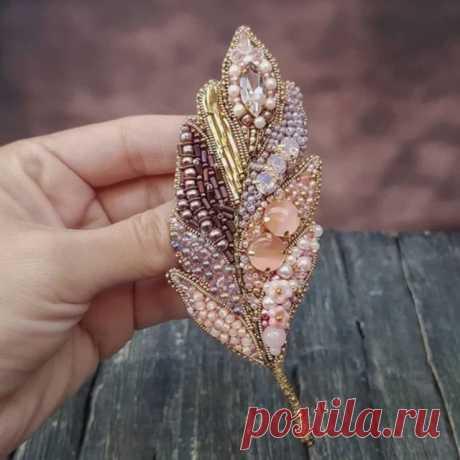 текстильные и бисерные броши -6 - Vladikana
