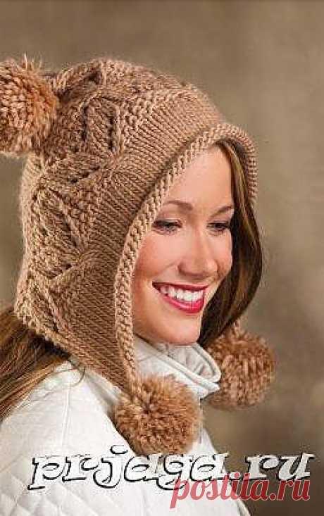 Капюшон – шапка спицами схема и описание