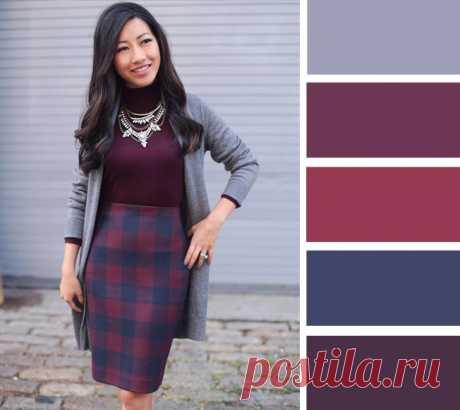 Plum lilac: 7 autumn combinations to plum color — BurdaStyle.ru