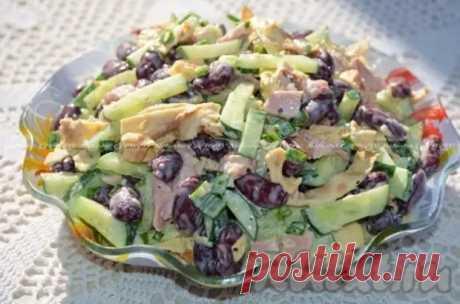 Салат с копченой курицей и фасолью - Наш уютный дом - медиаплатформа МирТесен