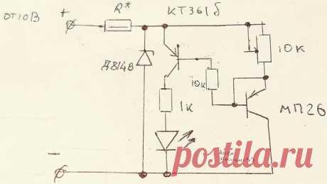 Автоматический индикатор температуры на германиевом транзисторе. | Электронные схемы | Яндекс Дзен